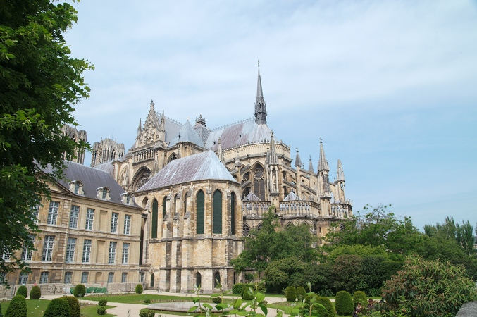Cathedrale Reims arriere